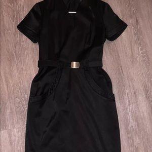 David Meister Little Black Cocktail Dress Sz 12